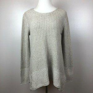 Eight Eight Eight M Tunic Sweater Knit Nude Slits